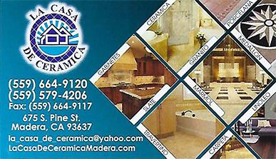 La Casa De Ceramica - Madera CA