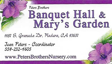 Banquet hall & Mary's Garden