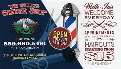 The Valley's Barber Shop