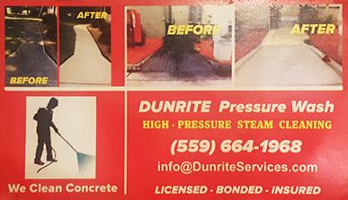 Dunrite Pressure Washing - Madera CA
